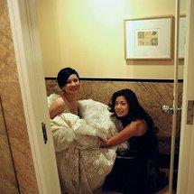 Bride peeing