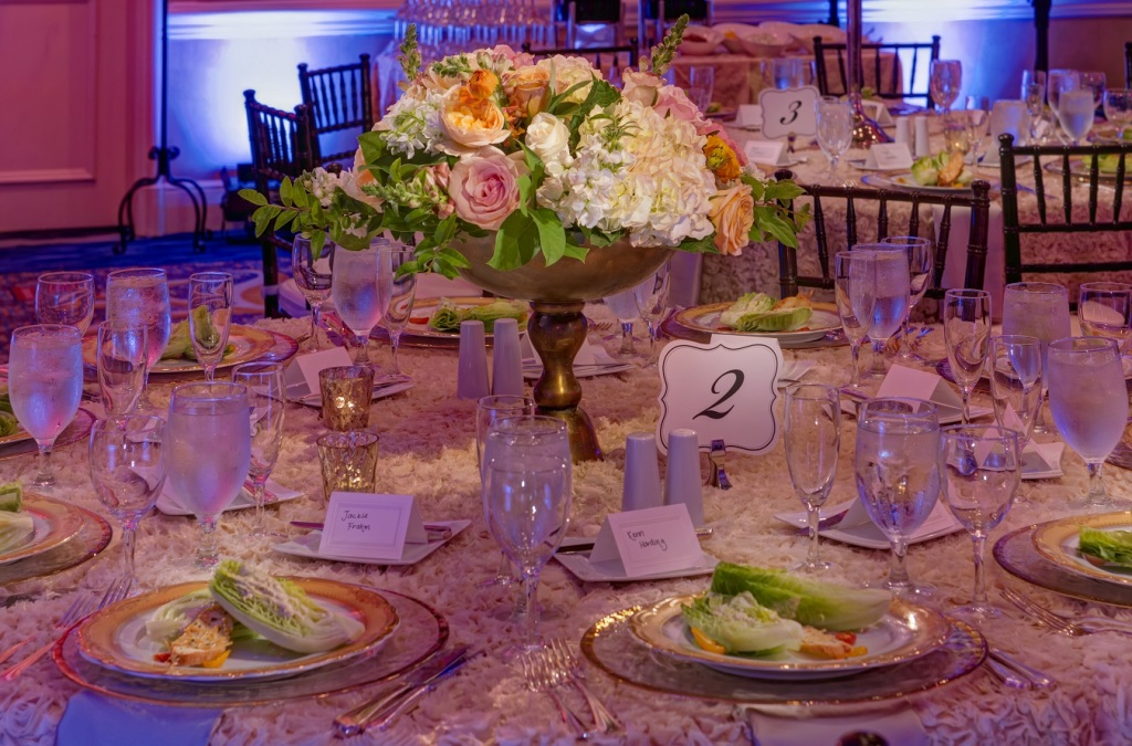 Four Seasons Wedding Table Setting by Yellow Umbrella Events