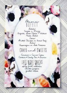 Elegant use of watercolor invitations