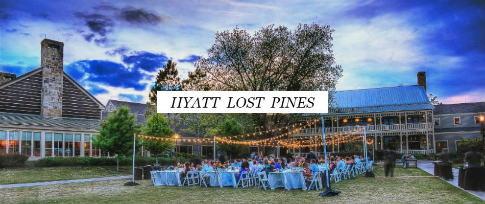 Hyatt Lost Pines Weddings