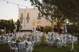 Laguna Gloria Four Seasons Lawn Reception with Festoon Lighting