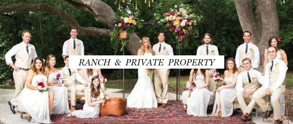 Ranch and Private Property Weddings