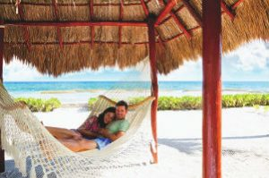 Couple in Hammock on Beach
