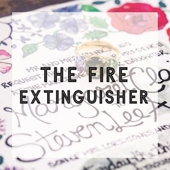 The Fire Extinguisher Wedding Planning Service