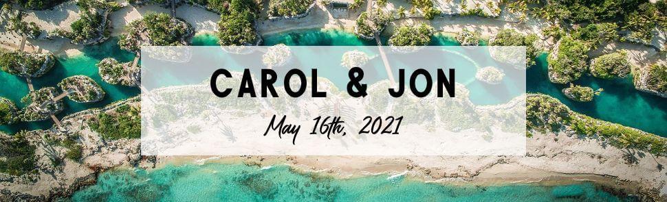 Carol & Jon Hotel Xcaret Page Header