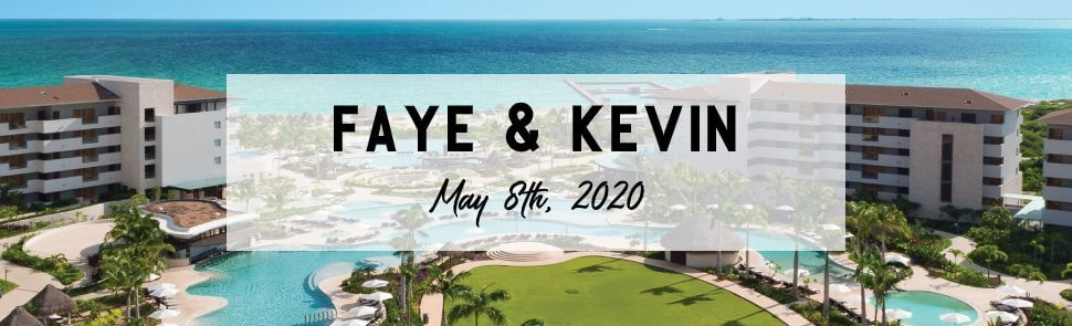 Faye & Kevin Hotel Xcaret Page Header
