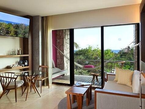Hotel Xcaret Garden Suite Living Area