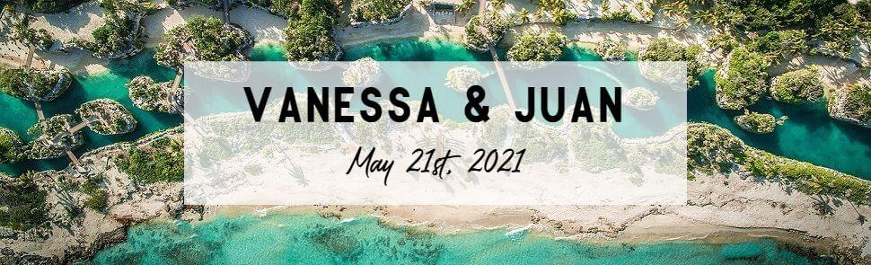 Vanessa & Juan Hotel Xcaret Header