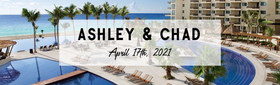 Ashley & Chad Dreams Riviera Cancun Header