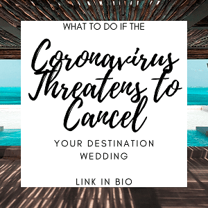 Coronavirus threatens to cancel your wedding - Instagram
