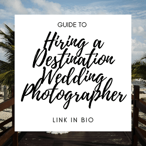 Hire a Destination Wedding Photographer - Instagram