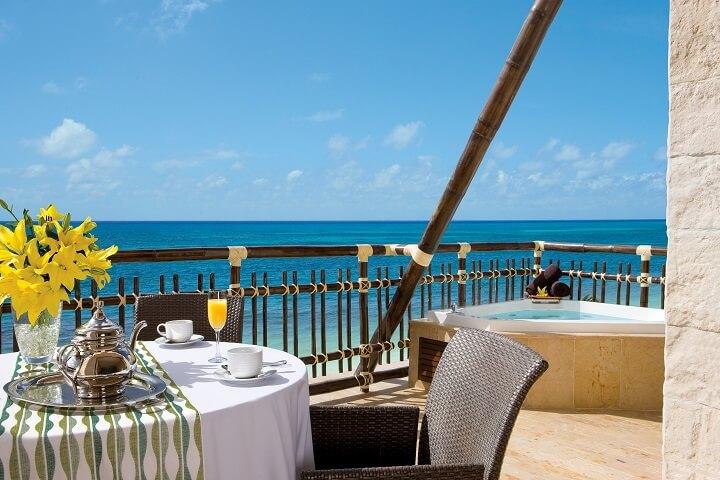 Preferred Club Ocean Front Master Suite Balcony - Dreams Riviera Cancun