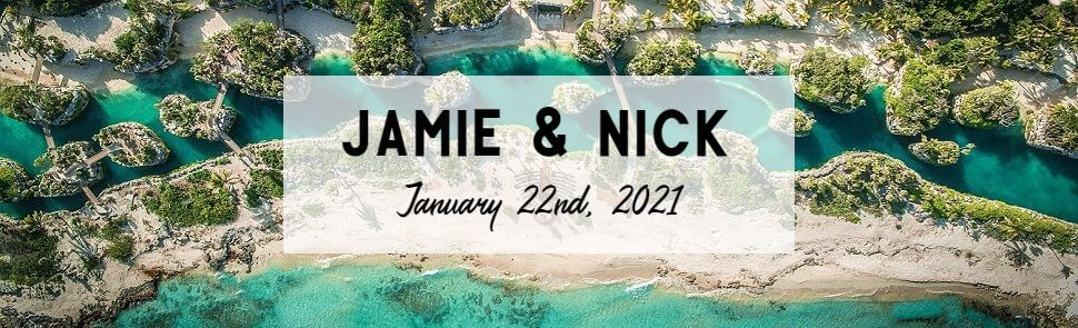 Jamie and Nick Hotel Xcaret Header
