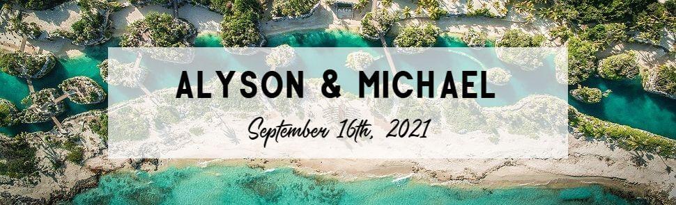 Alyson & Michael Hotel Xcaret Header