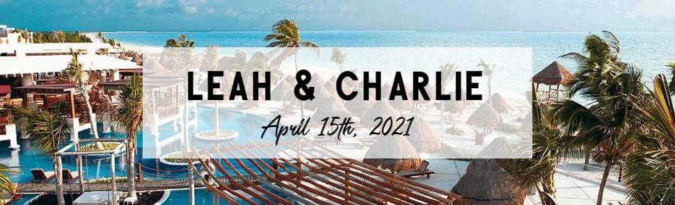 Leah & Charlie Excellence Playa Mujeres Header