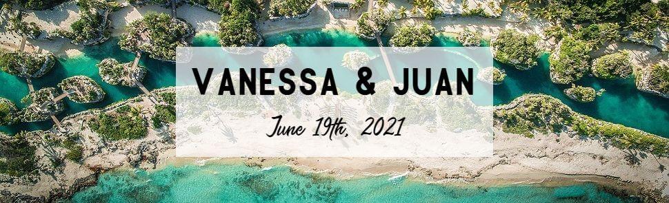 Vanessa Grande & Juan Hotel Xcaret Header