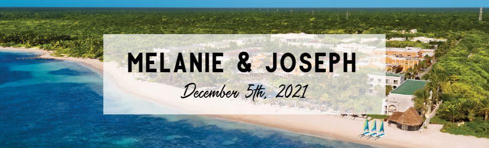 Melanie & Joseph Dreams Tulum Header