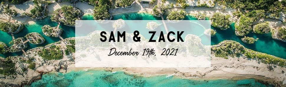 Sam & Zack Hotel Xcaret Wedding Header