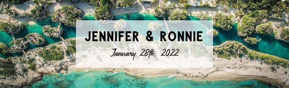 Jennifer & Ronnie Hot Xcaret Wedding Header