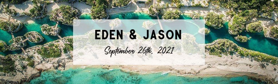 Eden & Jason Hotel Xcaret Header