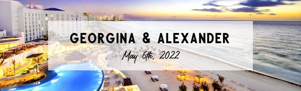 Georgina & Alexander Sun Palace Header