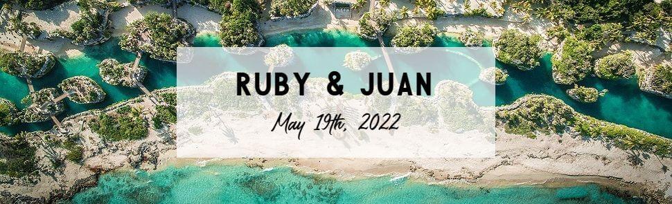 Ruby & Juan Hotel Xcaret Header
