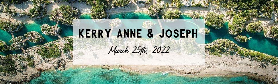 Kerry Anne & Joseph Hotel Xcaret Header