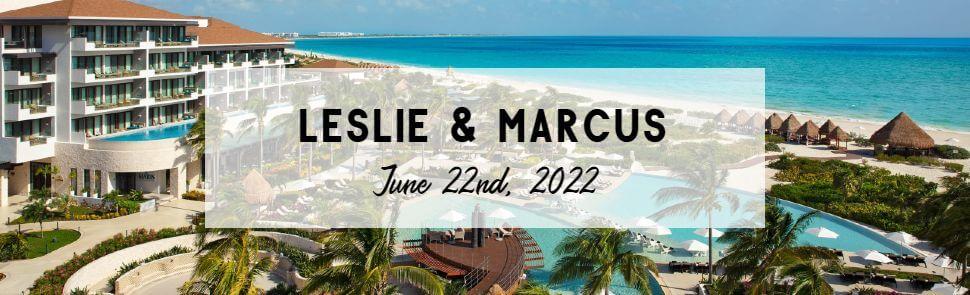Leslie & Marcus Dreams Playa Mujeres Header