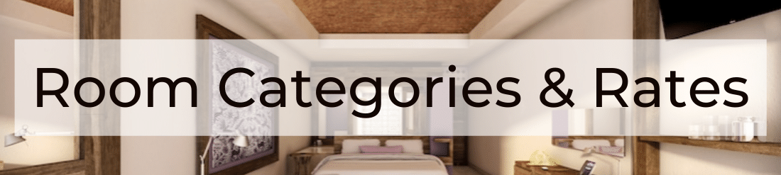 Room Categories and Rates Header