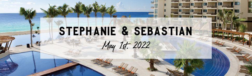 Stephanie & Sebastian Dreams Riviera Cancun Header